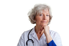 Attentive physician listening Royalty Free Stock Images