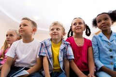 Attentive pupils Stock Photography