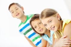 Attentive schoolgirl Stock Photography