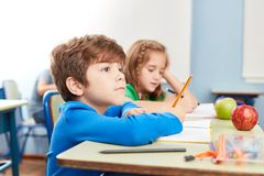 Free Attentive Student At The Dictation Stock Photo - 151598030
