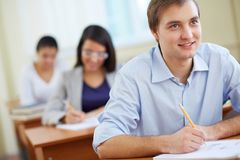 Attentive student Stock Images