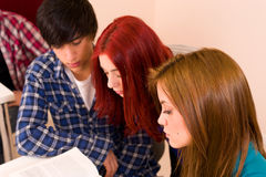 Attentive students Stock Images