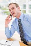 Attentively businessman speaking on the phone Royalty Free Stock Photography