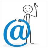Attenzione di simbolo del email Fotografie Stock