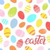 Attern με τα διαφορετικά ζωηρόχρωμα αυγά Πάσχας απεικόνιση αποθεμάτων