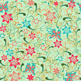 Attern with floral elements and butterflies Stock Images