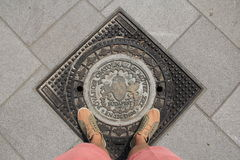 Atterraggio! Fotografie Stock
