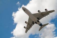 Atterraggio A380 Fotografia Stock