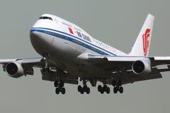 Atterraggio B-2447 di Air China Boeing 747-400 al internat di Sheremetyevo fotografie stock