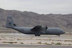 Atterraggio C-130 Fotografie Stock