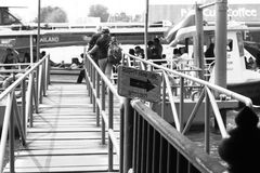 Atterraggio del traghetto Fotografia Stock