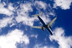 Atterraggio di aeroplano Fotografie Stock