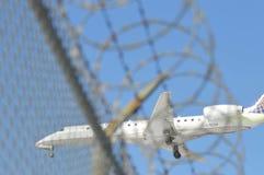 Atterraggio di aeroplano Fotografia Stock