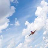 Atterraggio di aeroplano del passeggero Fotografia Stock Libera da Diritti