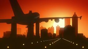 Atterraggio di alba dell'orizzonte di Atlanta Georgia U.S.A. America Immagine Stock Libera da Diritti