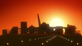 Atterraggio di alba dell'orizzonte di Atlantic City New Jersey U.S.A. America stock footage