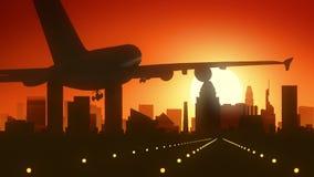 Atterraggio di alba dell'orizzonte di Los Angeles California U.S.A. America Immagine Stock