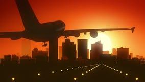 Atterraggio di alba dell'orizzonte di Phoenix Arizona U.S.A. America Immagini Stock Libere da Diritti