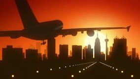 Atterraggio di alba dell'orizzonte di San Antonio Texas U.S.A. America Fotografia Stock Libera da Diritti