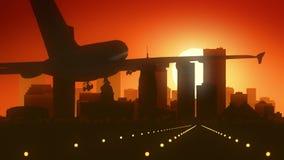 Atterraggio di alba dell'orizzonte di U.S.A. America di Oklahoma City Fotografie Stock