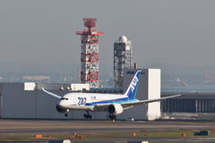 Atterraggio di ANA Dream 787 Immagine Stock Libera da Diritti