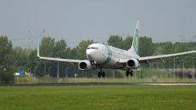Atterraggio di Transavia Boeing 737 archivi video