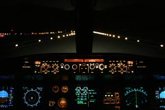 Atterraggio di velivoli Fotografie Stock Libere da Diritti