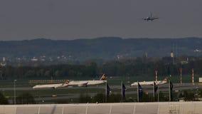 Atterraggio piano nell'aeroporto di Monaco di Baviera, molla