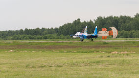 Atterraggio SU-27 Fotografia Stock Libera da Diritti