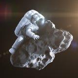 Atterrando su un'asteroide Fotografie Stock