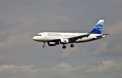 Atterrissage atlantique de voies aériennes Photo stock
