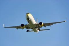Atterrissage d'aéronefs Images libres de droits