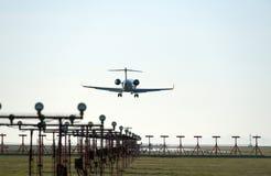 Atterrissage d'aéronefs dans l'aéroport de Vancouver Photos libres de droits