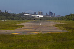 Atterrissage d'aéronefs légers Image stock