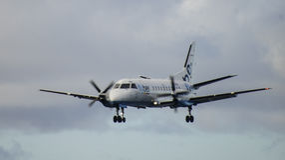 Atterrissage d'Aeroplan Image libre de droits