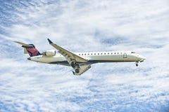 Atterrissage d'avion Images libres de droits