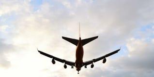 Atterrissage d'avion Photo libre de droits