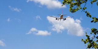 Atterrissage d'avion Photo stock
