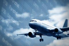 Atterrissage d'avion Photos libres de droits