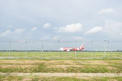 Atterrissage d'avions Photo stock