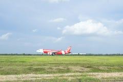 Atterrissage d'avions Photos stock