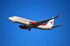 Atterrissage d'avions d'Air Algeria Photo libre de droits