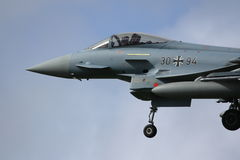 Atterrissage d'Eurofighter photo libre de droits