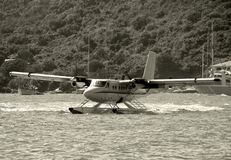 Atterrissage d'hydravion photographie stock
