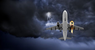 Le feu à bord photos libres de droits