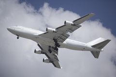 Atterrissage de Boeing 747 Images libres de droits