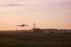 Atterrissage de Boeing 747 Image libre de droits