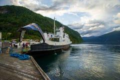 Atterrissage de ferry Photos libres de droits