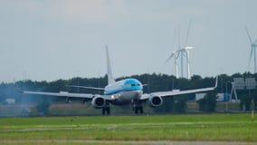 Atterrissage de KLM Boeing 737 banque de vidéos