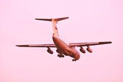 Atterrissage de l'avion Images stock
